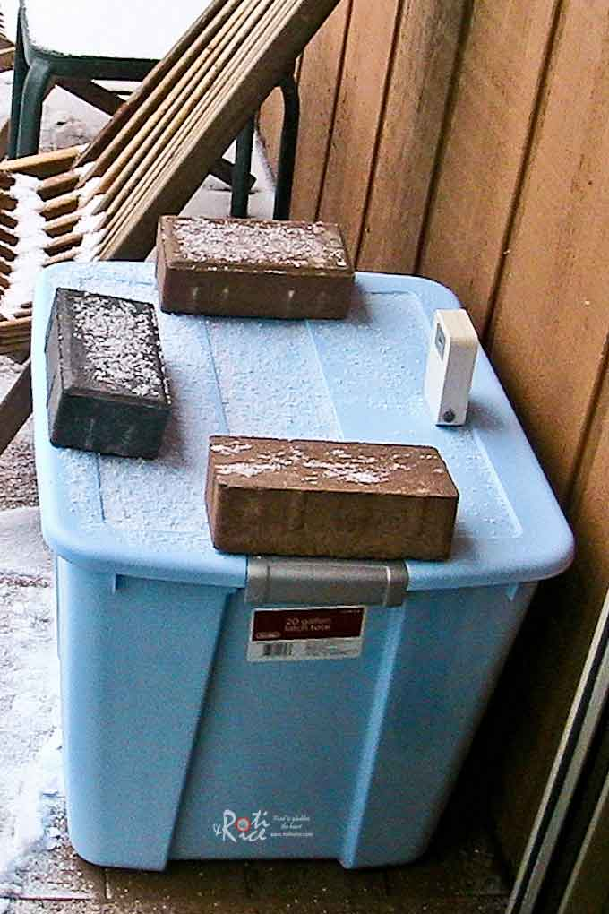 Outdoor Freezer - an experiment on whether already frozen food can be kept continually frozen in a box outdoors in the cold Minnesotan winter. | RotiNRice.com