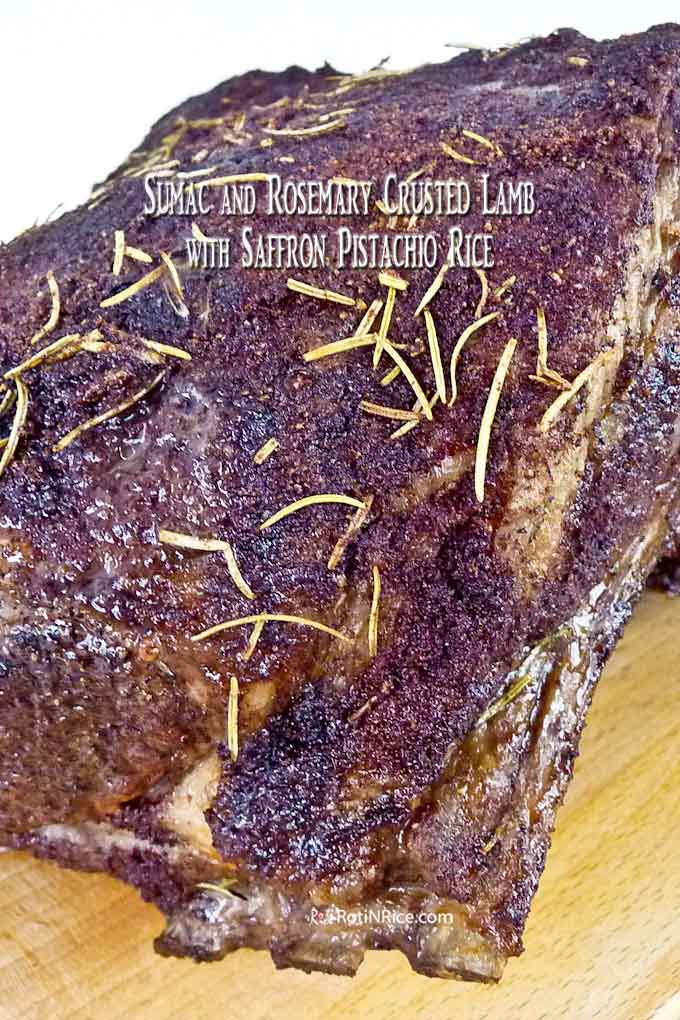 Perfectly roasted Sumac and Rosemary Crusted Lamb.