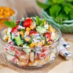 Cucumber, Tomato, and Boondi Raita