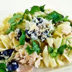 Tuna Noodle Casserole - a classic pantry dinner updated with the addition of broccoli, cauliflower, olives, and lime juice. Perfect for busy weeknights! | RotiNRice.com