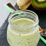 Cool and refreshing Kiwi Banana Smoothie.
