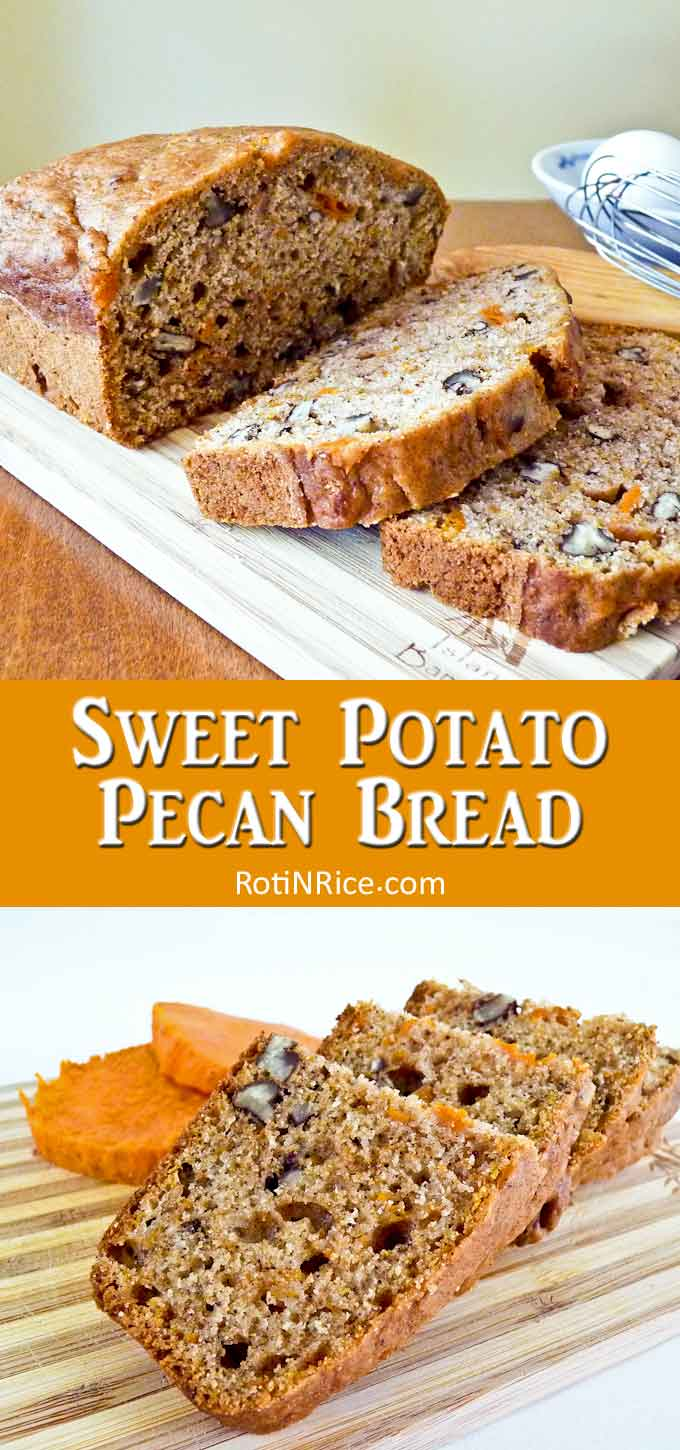Moist, delicious sweet potato quick bread.