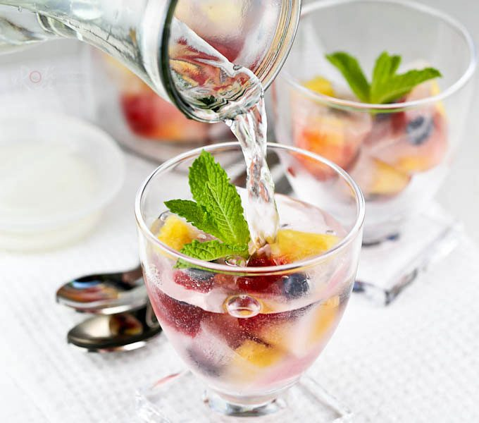 Super cool Fruit Freeze, the perfect treat on a hot summer's day. These fruity ice cubes are a fun and delicious way to liven up your beverages. | RotiNRice.com