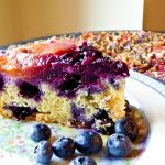 Nectarine and Blueberry Upside Down Cake