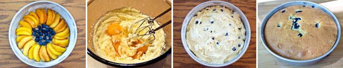 Nectarine and Blueberry Upside Down Cake-5