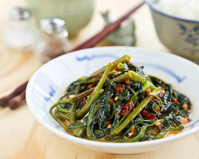 Simple and tasty Spicy Water Spinach Stir Fry.