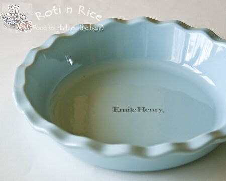 Emile Henry pie dish in sky & Emile Henry pie dish in sky | Roti n Rice