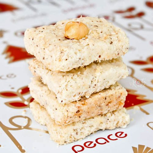 These Hazelnut Squares are a delightful addition to your holiday cookie assortment. They are buttery, fragrant, and totally scrumptious! | RotiNRice.com