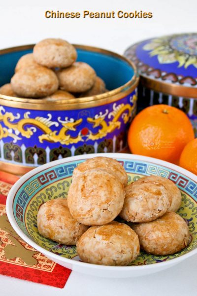 Melt-in-the-mouth Chinese Peanut Cookies made with roasted peanuts and rice flour.