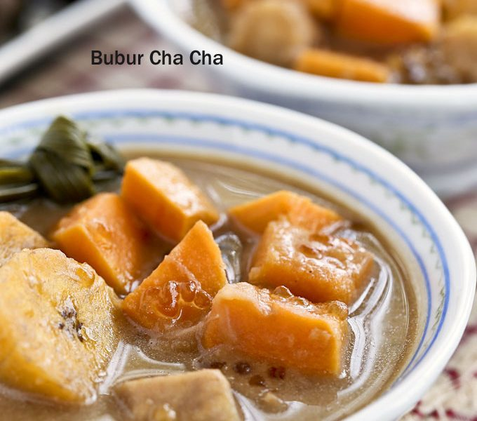 Bubur Cha Cha can be served warm or cold.
