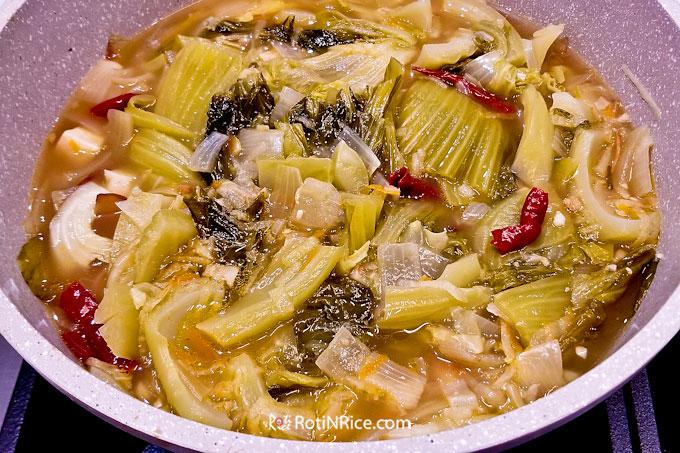 Chai Boey with leftover Roast Pork Belly and Jiu Hu Char.