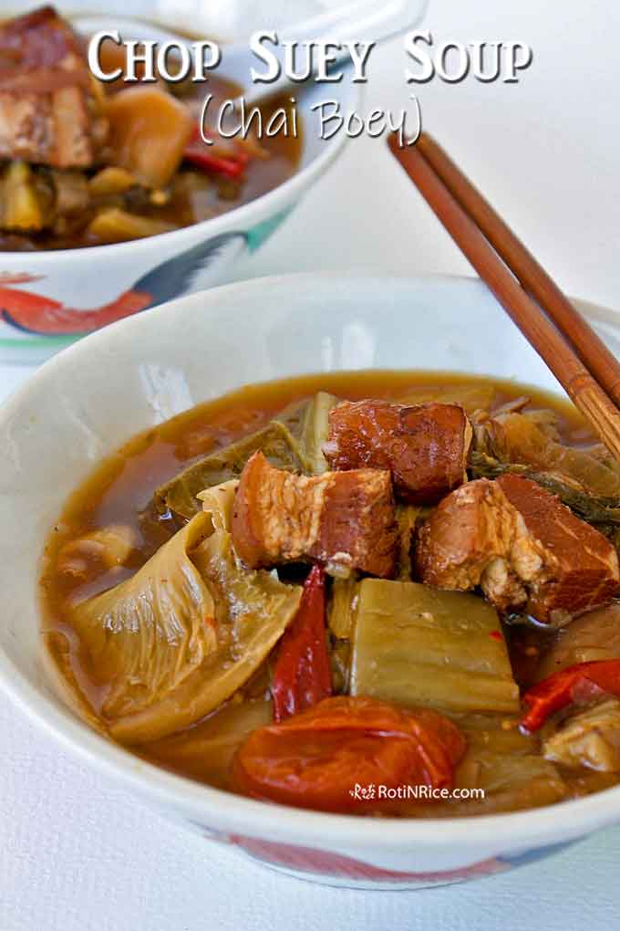 Rich and flavorful Chop Suey Soup (Chai Boey).