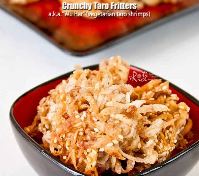 Crispy Crunchy Taro Fritters