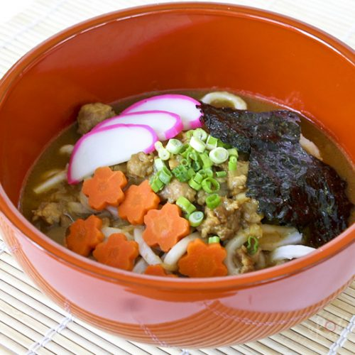Quick and easy Japanese Curry Udon using convenient pre-packaged curry sauce mix. Your choice of udon or ramen noodles and toppings. | RotiNRice.com #japanesecurry #curryudon #curryramen