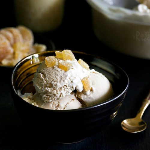 """This creamy and subtly spiced Ginger Tea Ice Cream (Teh Halia Ice Cream) was inspired by the sweet and invigorating Malaysian """"teh halia"""". It is a must-try! 