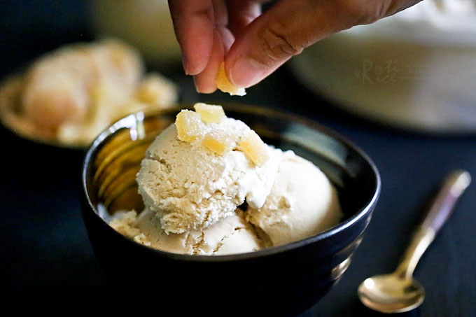 "This creamy and subtly spiced Ginger Tea Ice Cream (Teh Halia Ice Cream) was inspired by the sweet and invigorating Malaysian ""teh halia"". It is a must-try! 