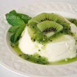 Lemongrass Panna Cotta with Kiwi Mint Sauce