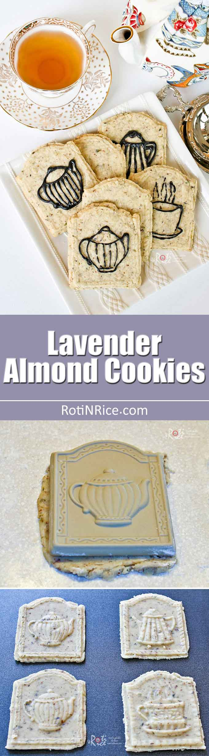 These beautiful Lavender Almond Cookies are a little soft and not overly floral. The almond meal gives it a slightly nutty flavor. | RotiNRice.com