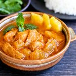 Pineapple Curry with Salmon