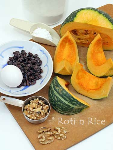 Ingredients for Steamed Kabocha Cake