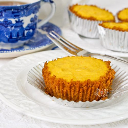 Delicious Mango Egg Tarts with a luscious mango coconut milk custard and easy Graham crackers crust. These mini tarts are perfect for tea time or dessert. | RotiNRice.com