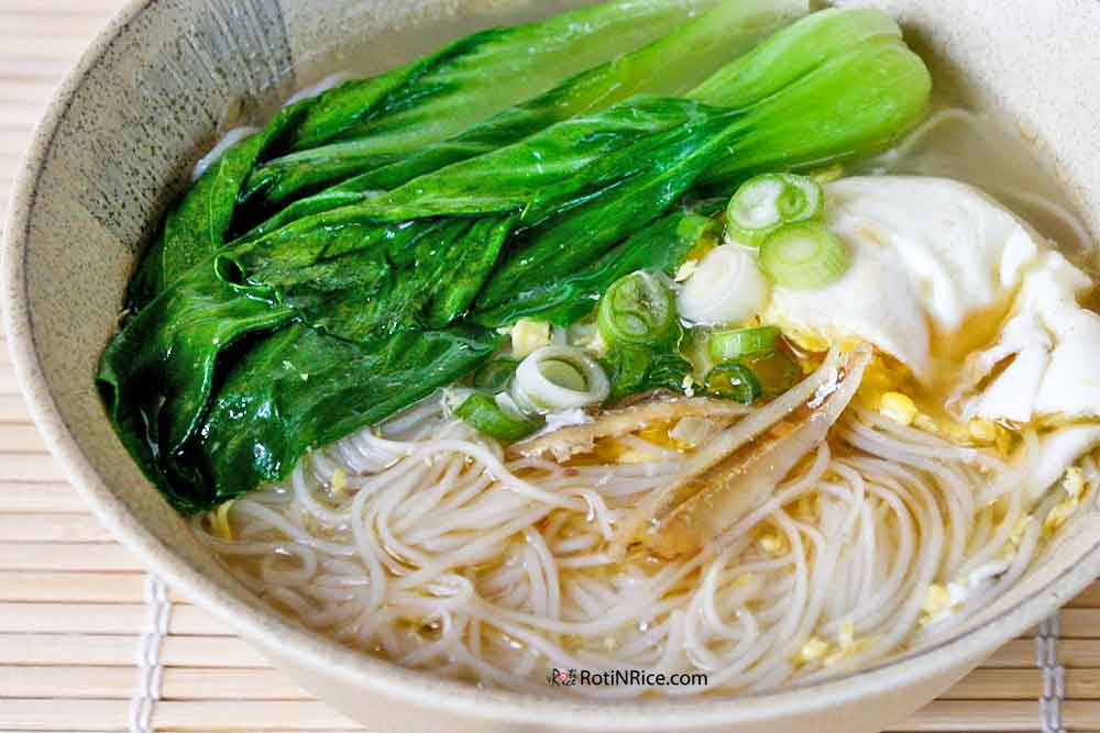 Warm and comforting Mee Suah Soup.