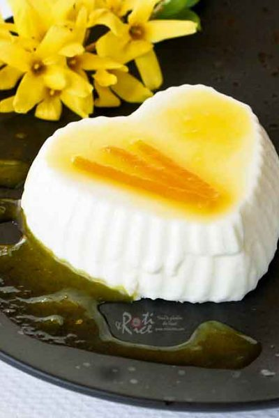 This luscious and fragrant Orange Blossom Panna Cotta is made with a dash of orange blossom water. It combines beautifully with the citrusy orange sauce.   RotiNRice.com