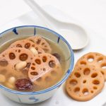Delicious and popular Lotus Root and Peanut Soup.