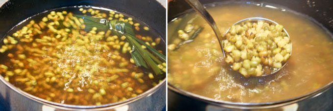Sweet Mung Bean and Sago Soup-4