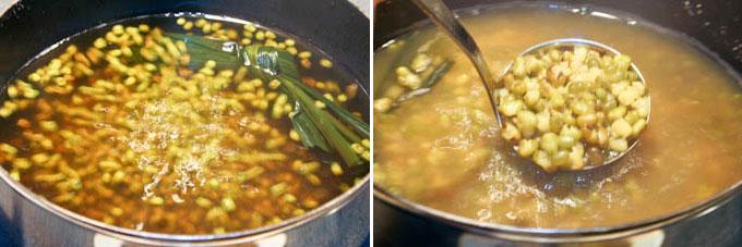 Sweet Mung Bean and Sago Soup-4