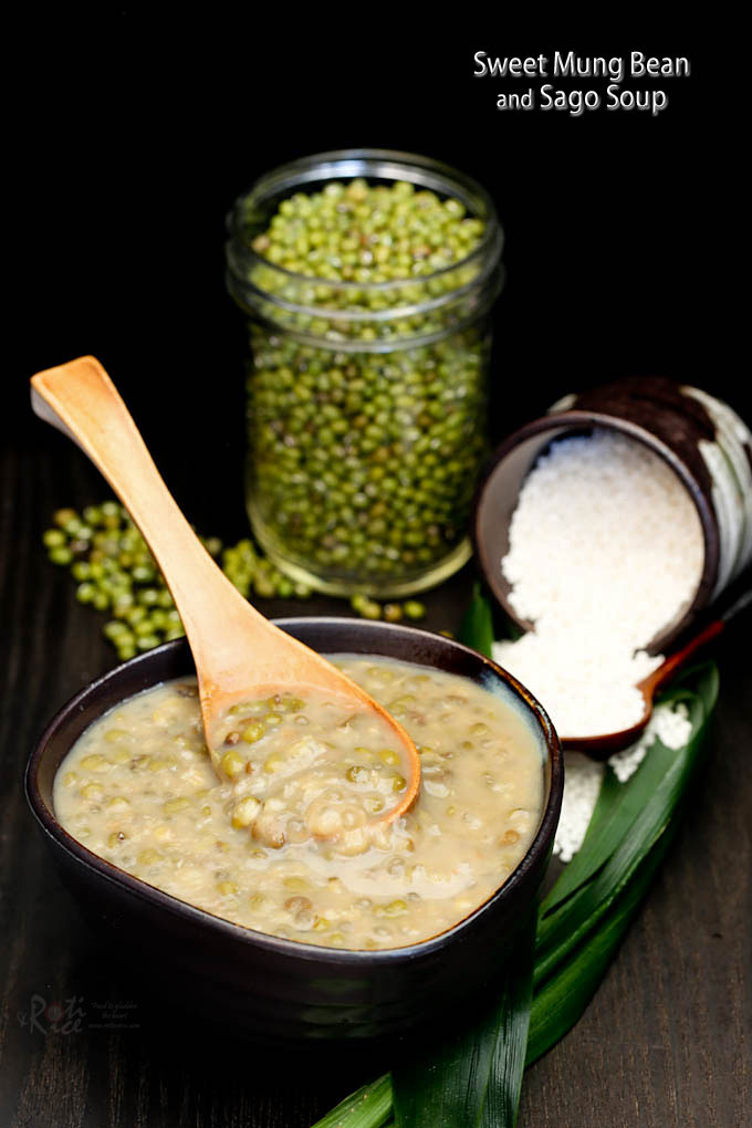 Fragrant Sweet Mung Bean and Sago Soup.