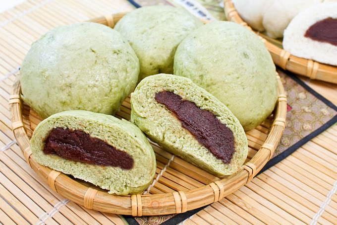 Tau Sar Bao and Matcha Anpan
