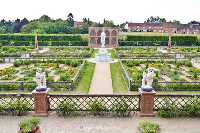 The garden at Kenilworth Castle built for Queen Elizabeth I
