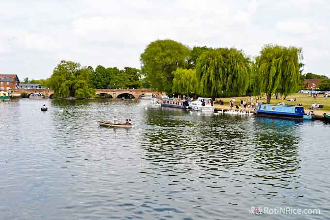 Picturesque town of Stratford upon Avon, birthplace of Shakespeare