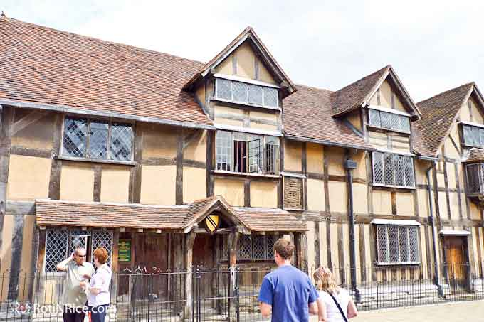 Shakespeare House on Henley Street where William Shakespeare was born and raised