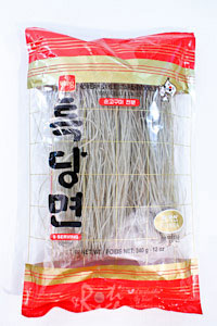 Japchae is a popular Korean sweet potato noodles and vegetable stir fry. Delicious as is or with a bowl of rice. Only 30 minutes to prepare. | RotiNRice.com