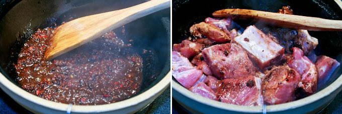 Braised Pork Ribs and Bitter Gourd in Black Bean Sauce-7