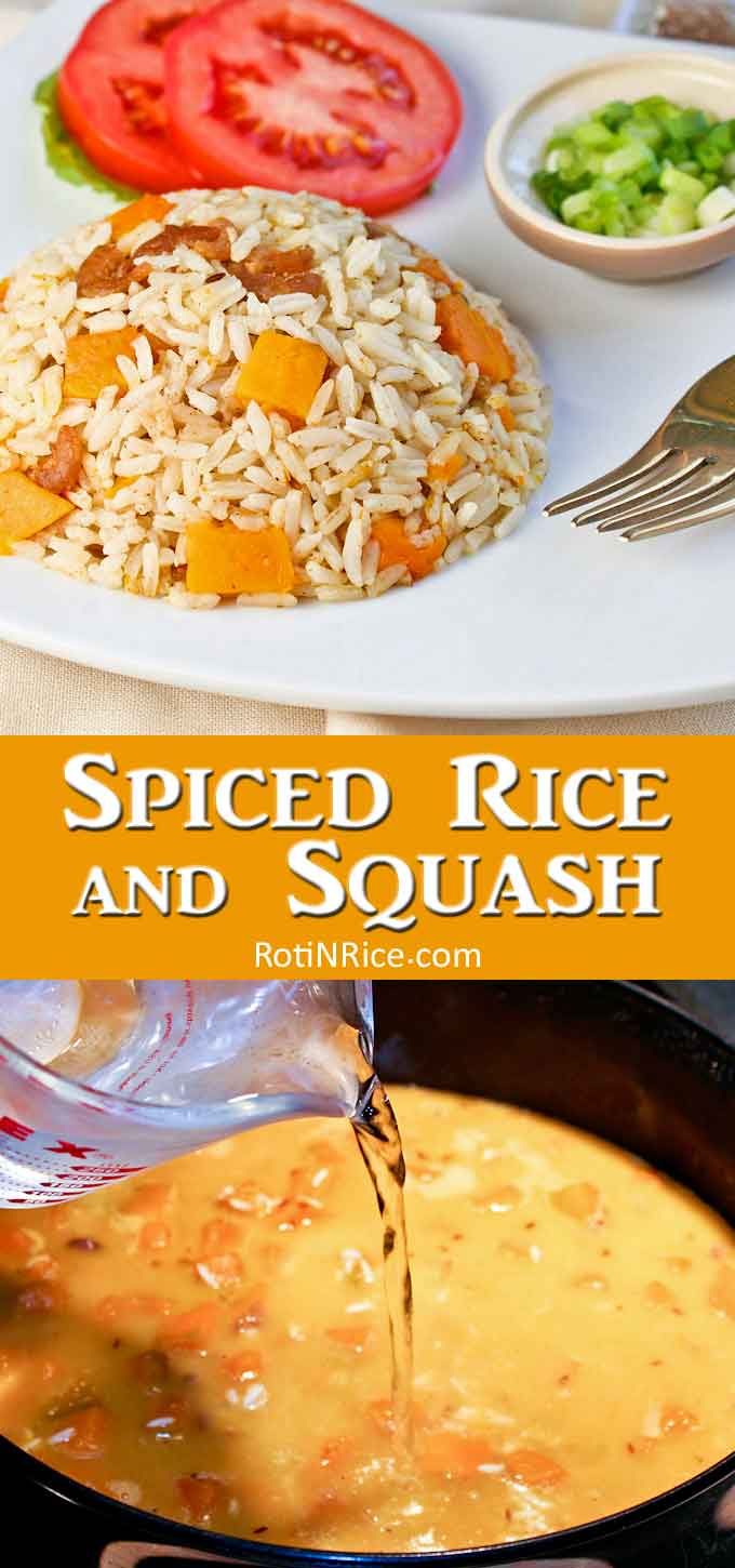 Spiced Rice and Squash collage