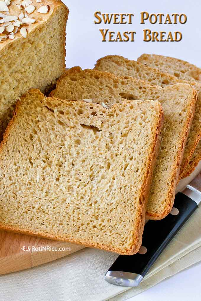 Sliced Sweet Potato Yeast Bread