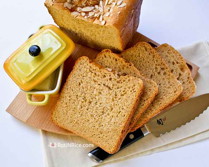 Delicious Sweet Potato Yeast Bread with butter.