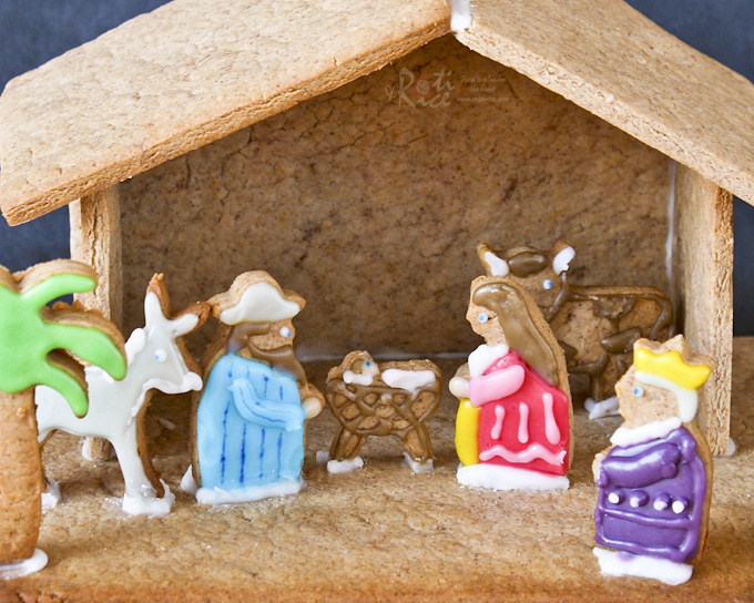 Gingerbread holy family