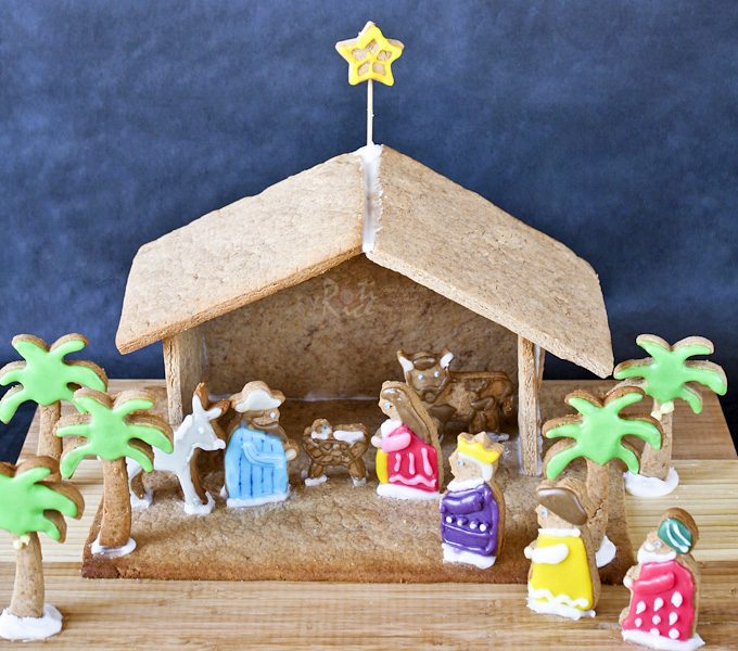 Make a Gingerbread Nativity with your family this Advent season. It is a fun and tasty way to explore the story of the first Christmas. | RotiNRice.com #gingerbreadnativity #gingerbread #nativity #christmasrecipes