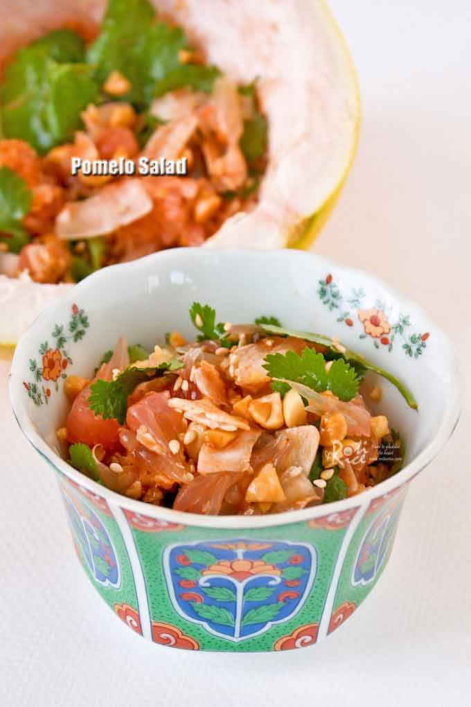 A delicious serving of Pomelo Salad.