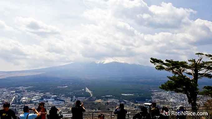 Viewing Mt. Fuji from Mt. Kachi Kachi