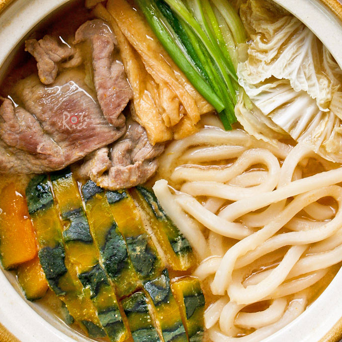 Warm and comforting Hoto Nabe (Flat Noodles Miso Hot Pot)