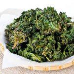 Crispy Kale Chips Seasoned with Garam Masala