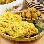 These tender and delicate Roti Jala (Malaysian Net Crepes) are a must try with chicken or beef curry. Easy to prepare using only a few ingredients. | RotiNRice.com #rotijala #netcrepes #malaysiannetcrepes
