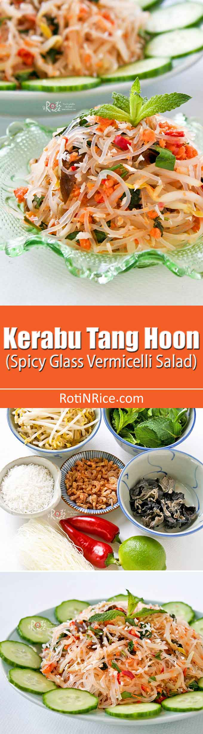 This delicious Kerabu Tang Hoon is a combination of a few well known Nyonya kerabus. It is delicious eaten as a side dish or a light meal. | RotiNRice.com