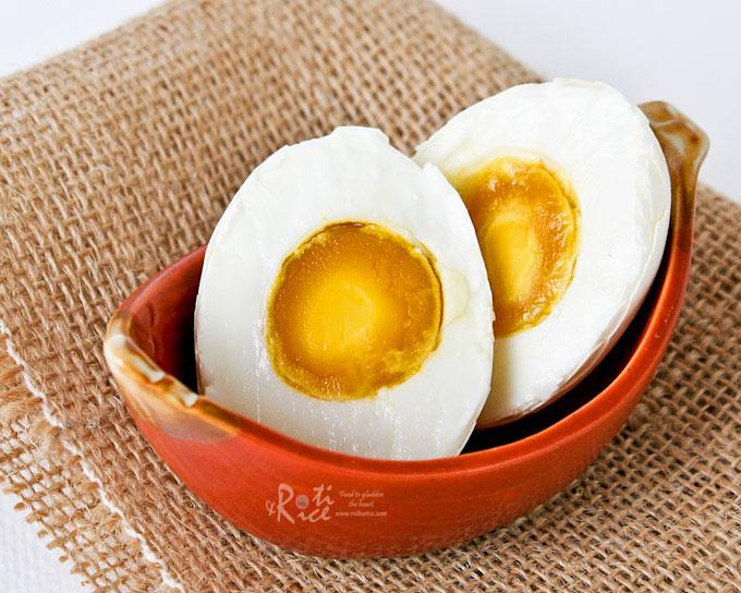salted eggs roti n rice
