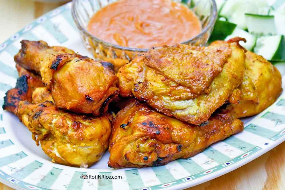 Ayam Panggang Kunyit made with ground turmeric